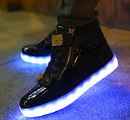Women's Fashion LED Shoes High LED light luminous shoes USB charging Best Seller Casual Shoes Black / White / Red