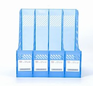 Office Supplies Transparent Plastic Document Holder Quadruple File Column Frame Four Columns File Data Management