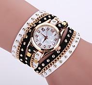 Damen Modeuhr / Armbanduhr / Armband-Uhr Quartz Armbanduhren für den Alltag Leder Band Blume / BöhmischeSchwarz / Weiß / Blau / Rot /