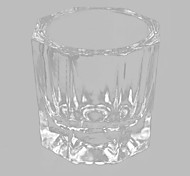 Manicure Octagonal Glass Glass Octagonal Crystal Cup Resurrection Pen Washing Cup Manicure Thickening Tool 1PC