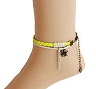 Украшения для тела/Ножной браслет Цепь Тела / Belly Chain Сплав Мода Желтый 1шт