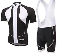 KEIYUEM® Cycling Jersey with Bib Shorts Unisex Short Sleeve BikeWaterproof / Breathable / Quick Dry / Anatomic Design / Rain-Proof /