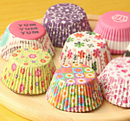 (Color random)100Pcs/Sale Cute Paper Cake Cup Liners Baking Cup Muffin Kitchen Cupcake dessert Ice cream Cases
