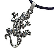 Man Necklace, Stainless Steel Accessories - Gecko Diamond