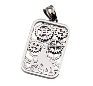 316L Stainless Steel Pendant Wolf Gear