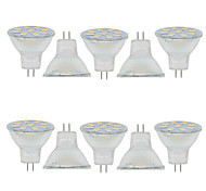 2W GU4(MR11) Luces Decorativas MR11 9 SMD 5730 280LM lm Blanco Cálido / Blanco Fresco Decorativa 09.30 V 10 piezas