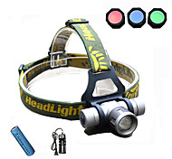 Led Rechargeable Headlamp/3 Mode Adjustable Focus/Rechargeable/Colors changing/for Fishing Hunting Camping