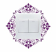 AYA™ DIY Wall Stickers Wall Decals, Flower Vine Design Type PVC Switch Panel Stickers 18*18cm
