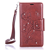 For Nokia Lumia 650/550 Luxury Retro Butterfly Diamonds embossed wallet Phone Cover With Stand Card Holder