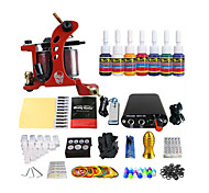 Coil Tattoo Machine Kit Equipment Tool  7 Special Color Pigments (Handle Color Random Delivery)