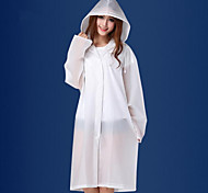 Adult Male And Female Fashion Raincoat Translucent Frosted Thickened Eva