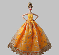 Princess Dresses For Barbie Doll Orange Dresses