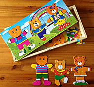 Bear Family Wooden Toy