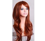 parrucche cosplay a buon mercato piene parrucche sintetiche 70 centimetri parrucca bellezza brown