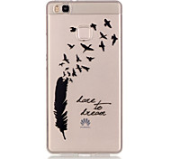 TPU + IMD Material Dream Feather Pattern Slim Phone Case for Huawei P9 Lite/P9/P8 Lite/Y625