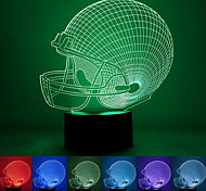Rugby Cap Creative Colorful USB 3D Led Night Light