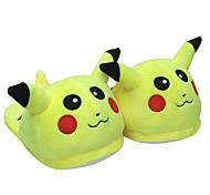Kigurumi Pijamas Animé / Caricaturas Zapatos / Zapatillas Halloween Ropa de Noche de los Animales Amarillo Un Color Vellón de Coral