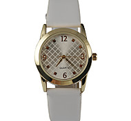 Women's Fashion Watch Quartz Casual Watch PU Band Charm White