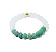 Fashionable Agate 19cm Round Strand Bracelets
