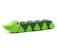 Green Caterpillar Wooden Toy