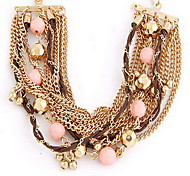 Multilayer Chain Beads Strand Chain Bracelet