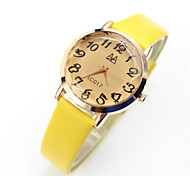 Women's Fashion Watch Casual Watch Quartz Casual Watch Leather Band Vintage Black Blue Pink Yellow Brand