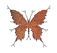 3D Wall Stickers Wall Decals Style Butterfly Broken Wall PVC Wall Stickers