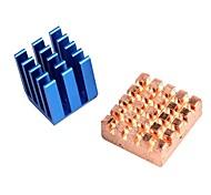 cuivre dissipateurs en aluminium pour Raspberry Pi b refroidissement + &raspberry pi 2 rpi ensemble de 2 puits de chaleur