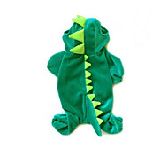 Cat / Dog Costume / Clothes/Jumpsuit Green Winter / Spring/Fall Animal Cosplay / Halloween, Dog Clothes