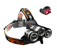 Headlamps / Bike Lights / Front Bike Light Cree XM-L T6 Cycling Waterproof / Rechargeable / Impact Resistant / Anti Slip 18650 3000 Lumens