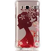Silhouette Girl Pattern TPU Popular Brands Calling Flash Case Cover For Samsung Galaxy J7 (2016) / J5 (2016) / J1 (2016)