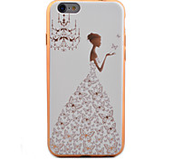 Wedding Girl Pattern Plating TPU Soft Case Phone Case for iPhone 6/6S