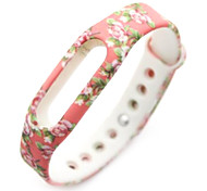 Wristband Bracelet Strap Replacement Parts For Mi band(Red Peony)