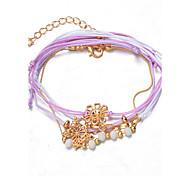 Bracelet/Chaînes & Bracelets / Charmes pour Bracelets / Bracelets de rive / Bracelets Wrap / Loom Bracelet Alliage / Dentelle A la Mode