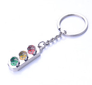 The Traffic  Lights Shape Metal Silver Keychain Toys