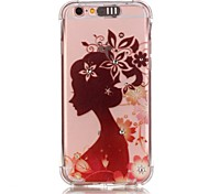 Girl Avatar Pattern Resistance Calls Flashing TPU Soft Case Phone Case for iPhone 5/5S/SE/6/6S/6S Plus/6S Plus