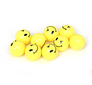 Beadia 30Pcs Acrylic Beads 16mm Round Yellow Smiling Face Plastic Spacer Beads (2mm Hole)