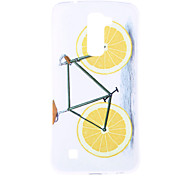 Orange Bike Pattern TPU Soft Case Phone Case for LG Series Model