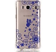 Blue Lace Pattern TPU Popular Brands Calling Flash Case Cover For Samsung Galaxy J7 (2016) / J5 (2016) / J1 (2016)