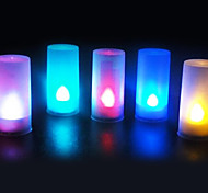 5 pcs Voice Sensor LED Candle light Color-Changeable Night Light