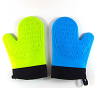 Short Paragraph Plus Cotton Silicone Glove Silicone Microwave Oven Gloves Insulated Gloves 5Pcs