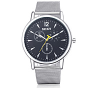 SOXY® Men's Fashion Round Wristwatches Glass Analog Quartz Watch Casual Business Style