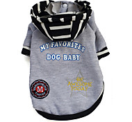 Dog Hoodie Black / Gray Spring/Fall Stripe