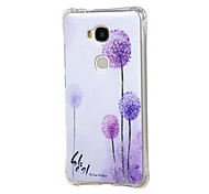 Colorful Dandelion Pattern Grainy Inner Shockproof Air TPU Case Cover for Huawei Honor Play 5X / Honor 5X