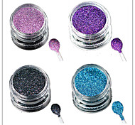 1 Bottle Nail Art Laser Colorful Glitter Shining Powder Manicure Makeup Decoration Nail Beauty L13-16
