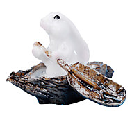 Resin Rabbit Micro Landscape Decoration Boat Rabbit