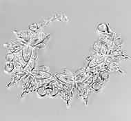 Women's Fashionable Sterling Silver Chain Bracelet