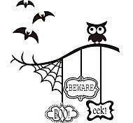 aw9433 Halloween Stickers Window Stickers Wall Stickers Halloween   Home Decor Bats Stickers