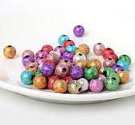 Los granos de acrílico de 10 mm beadia oro, plata, perlas de plástico 28g (aprx.50pcs)