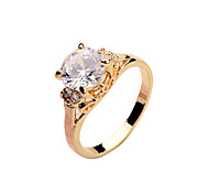 Fashion zircon ring copper material micro ring inlaid with gold color Lady Rose gold platinum gold